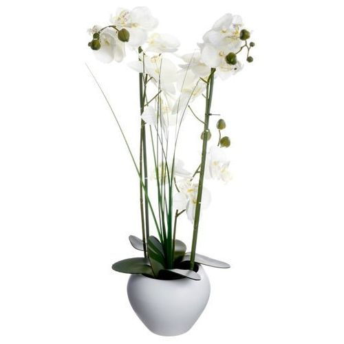 Atmosphera créateur d'intérieur Sztuczna orchidee w ceramicznej doniczce, uniwersalna dekoracja, sztuczne kwiaty, ozdoba pokoju i biura (3560239260868)