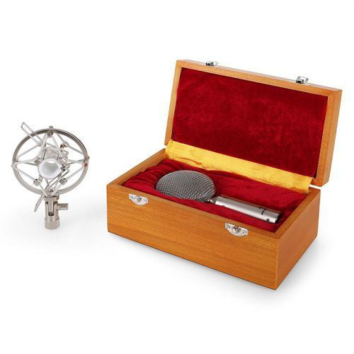 Auna Mikrofon wstęgowy crm15 bändchenmikrofon srebrny acht