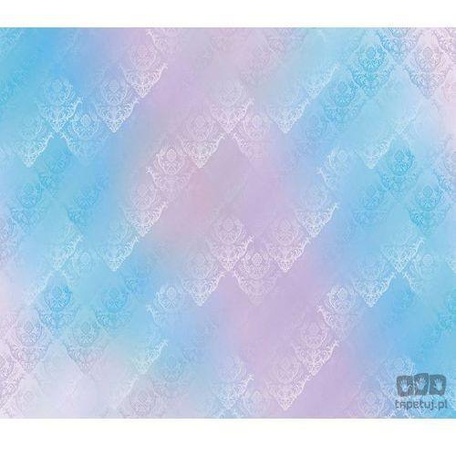 Fototapeta Tradycyjne kwiatowe wzory – niebiesko-różowe odcienie 1466 (fototapeta) od Tapety ścienne tapetuj.pl