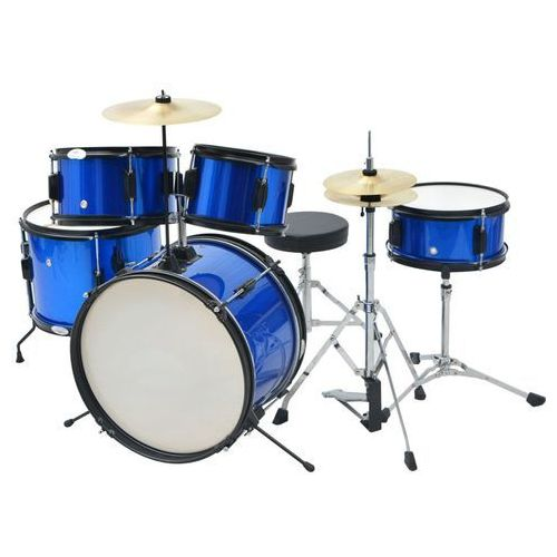vidaXL Kompletna perkusja Junior w kolorze niebieskim