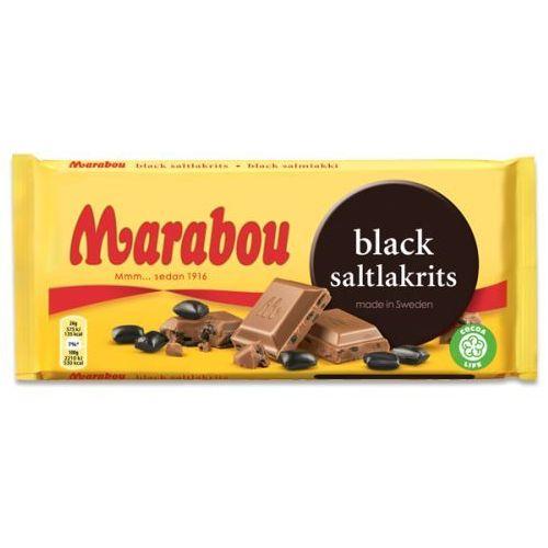 Marabou black saltlakris czekolada mleczna ze słonymi lukrecjami 180g