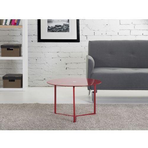 Nowoczesny stolik kawowy czerwony 60x40 cm - lawa - stól - TRIBECA, Beliani z Beliani