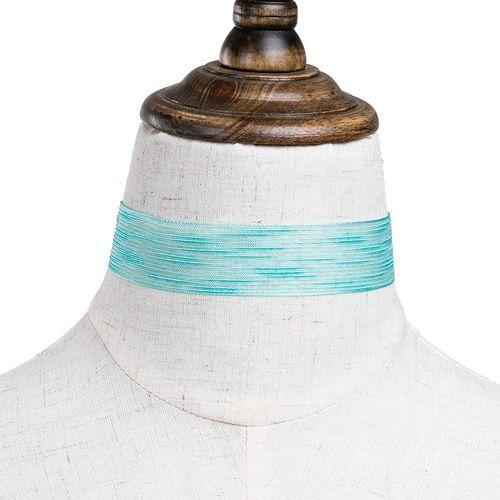 Cloe Choker matowy jasny turkusowy - jasny turkusowy