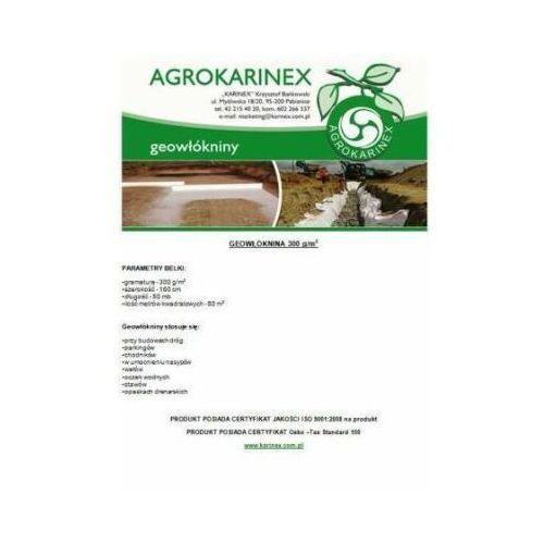 Agrokarinex Geowłóknina 300 g/m2, biała 1,6 x 50 mb. rolka.