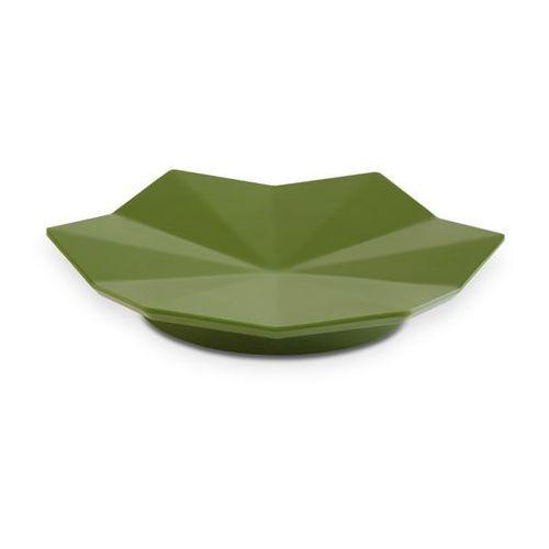 Aps Półmisek dekoracyjny z melaminy w kształcie liścia o średnicy 175 mm, ciemnozielony | , lotus