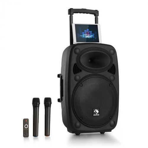 """Auna Streetstar 15 mobilny zestaw nagłośnieniowy pa na kolkach 15"""" subwoofer bt"""