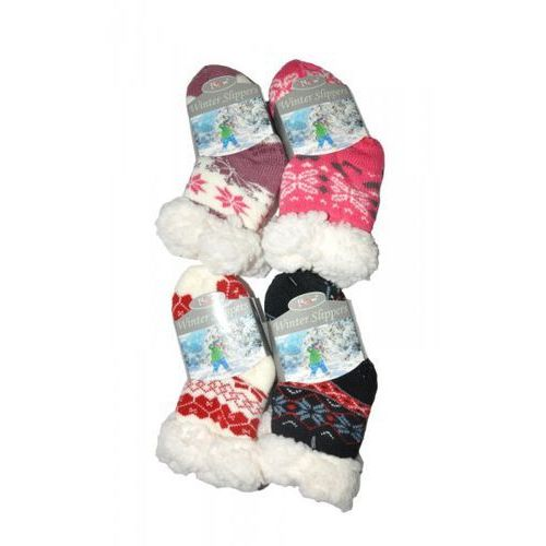 Risocks winter slippers gwiazdki art.3003 abs skarpetki