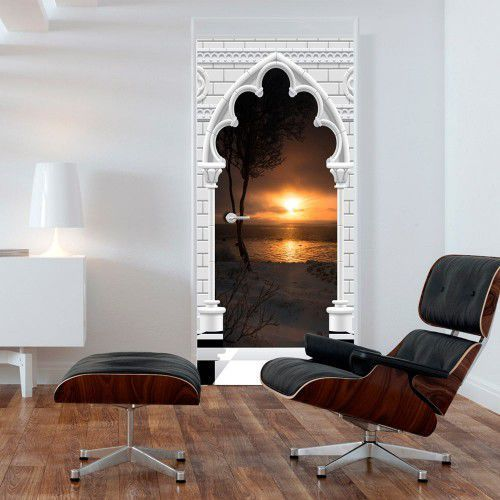 Fototapeta na drzwi - tapeta na drzwi - łuk gotycki i zachód słońca marki Artgeist