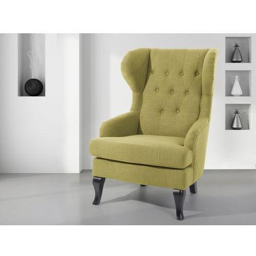 Fotel oliwkowy - tapicerowany - pikowany - do salonu - ALTA - produkt dostępny w Beliani