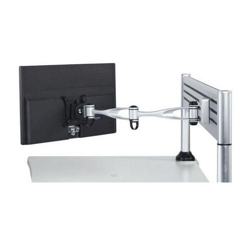B2b partner Uchwyt na monitor dwuramienny, obrotowy, montaż na nośniku, 1x monitor