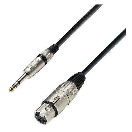 Adam Hall Cables K3 BFV 0300 - przewód mikrofonowy XLR żeńskie - jack stereo 6,3 mm, 3 m