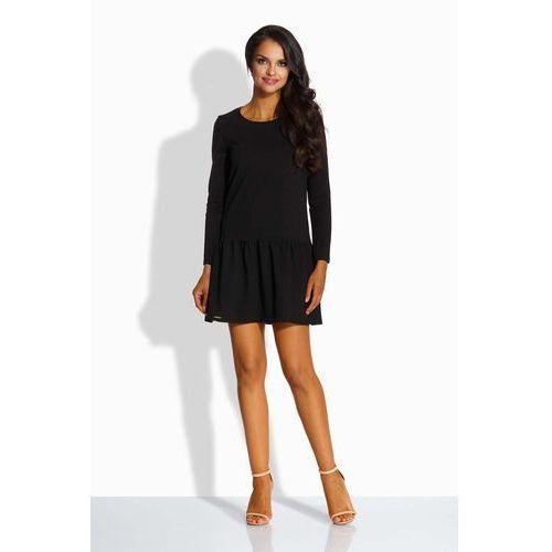Czarna sukienka z kokardą na plecach, Lemoniade, 36-40