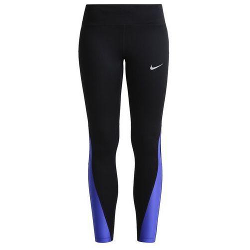 Nike Performance RACER Legginsy black/paramount blue/reflective silver