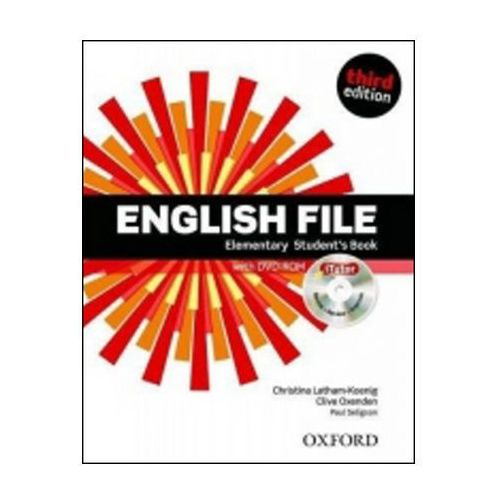 English File Third Edition Elementary Student´s Book With Itutor Dvd-rom Cz (9780194598804)