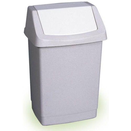 CURVER Kosz na śmieci uchylny, 50l, szary, Curver