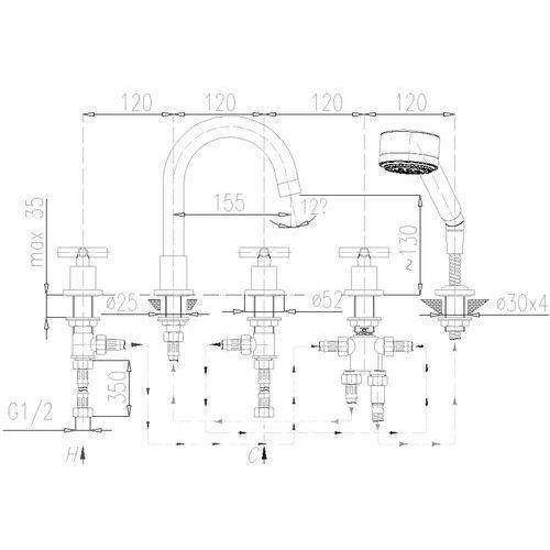 KFA SYMETRIC 345-510-00 - produkt z kat. baterie wannowe