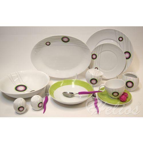 ĆMIELÓW: Serwis obiadowo-kawowy na 6 osób - QUEBEC E-823 Maja - sprawdź w Helos-Szkło