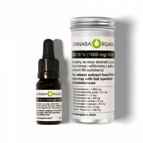 Cannaba organics Surowy olej pełne spektrum 10% cbd (1000 mg/10 ml) (5902198161943)