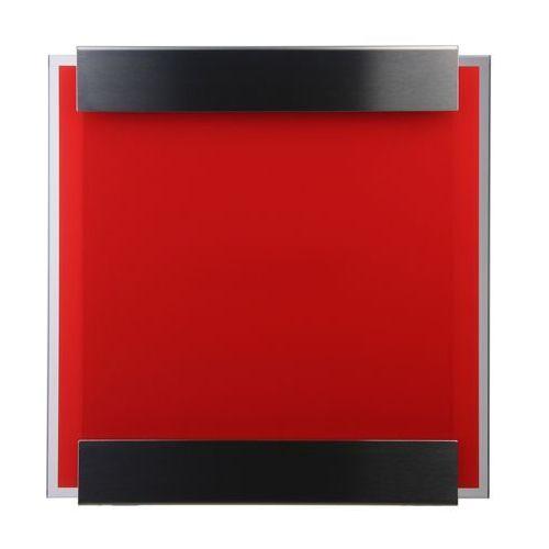Skrzynka na listy Keilbach Glasnost Glass czerwona - produkt dostępny w All4home