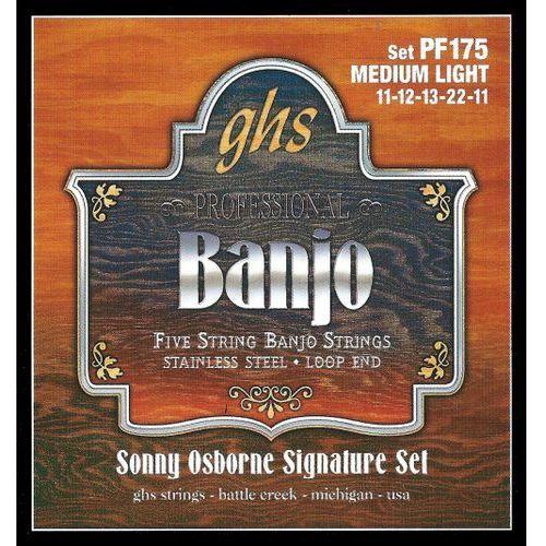 sonny osbourne signature struny do banjo, 5-str. loop end, stainless steel,.011-.022 marki Ghs