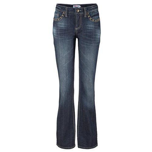 Bonprix Dżinsy ze stretchem BOOTCUT  ciemnoniebieski, niebieska, max rozmiar: 48