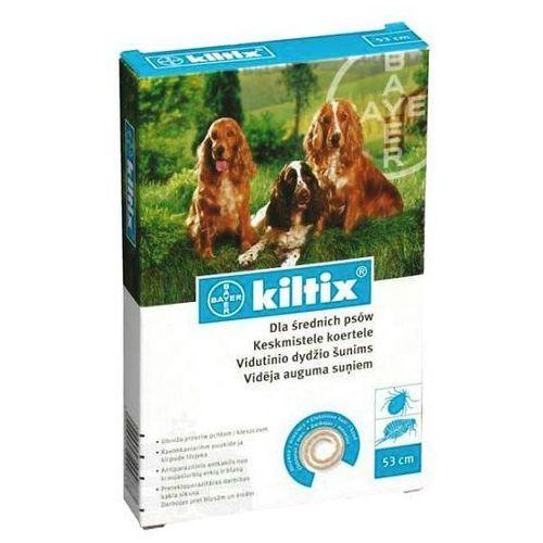 Bayer Kiltix obroża przeciwko pchłom i kleszczom dla psów ras średnich, 48cm ze sklepu Fionka.pl