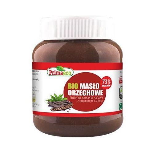 BIO Masło Orzechowe Słodzone Syropem z Agawy z Dodatkiem Karobu 340g Primavika (5900672305418)
