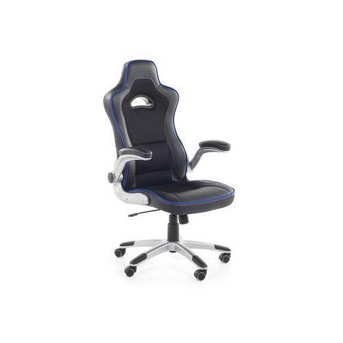 Krzesło biurowe czarno-niebieskie regulowana wysokość MASTER