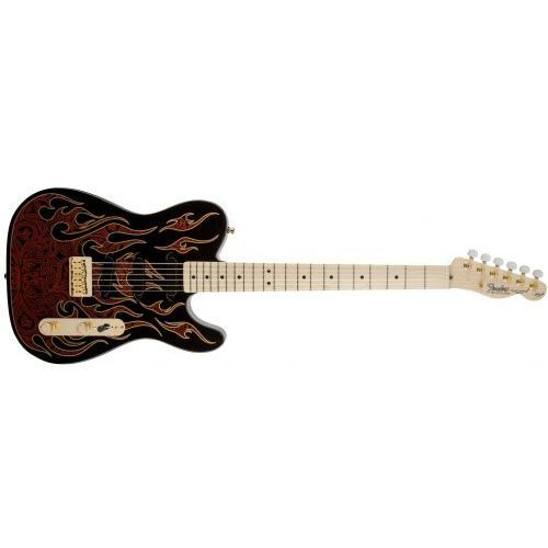 Fender james burton telecaster ml red paisley gitara elektryczna podstrunnica klonowa