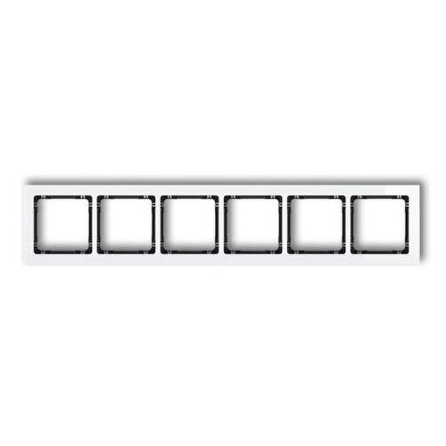 Ramka sześciokrotna Karlik Deco 0-12-DRS-6 efekt szkła spód czarny ramka biała (5903268580909)