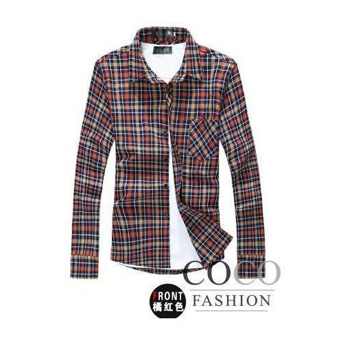 Bawełniana Koszula Slim Fit w Kratkę Dostępna w 2 Kolorach - sprawdź w Coco Fashion