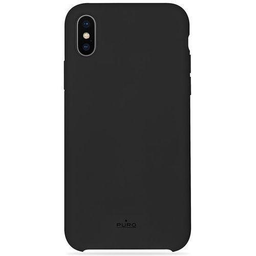 Etui PURO Icon Cover Apple iPhone XR czarny, kolor czarny