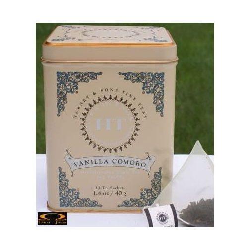 Harney & sons Herbata vanilla comoro, puszka piramidki 20 szt.