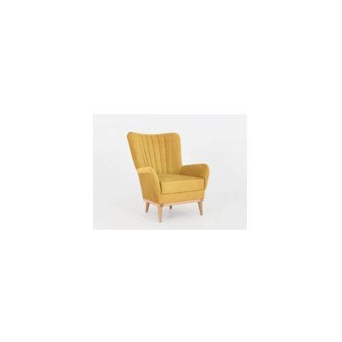 Fotel na drewnianych nóżkach, skandynawski tapicerowany Customform BEE - różne kolory, AC006BEE-MT11 (11563287)