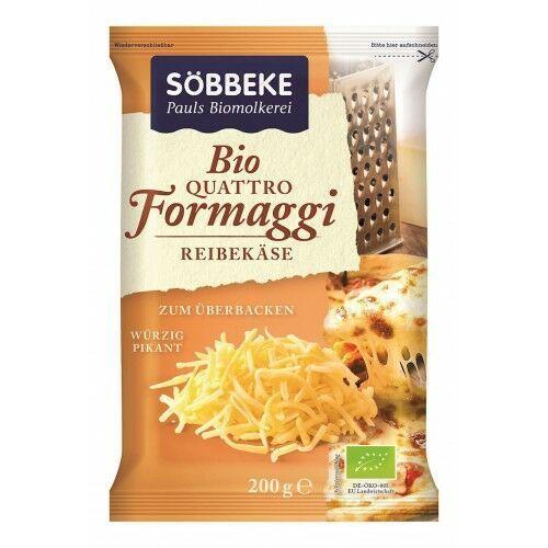 Mix czterech tartych serów (48% tłuszczu w suchej masie) bio 200 g - sobbeke marki Sobbeke (nabiał z mleka krowiego)