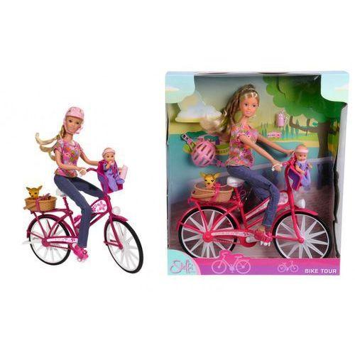 Simba - Steffi Lalka z rowerem, bobasem i pieskiem - zestaw - Simba - produkt z kategorii- lalki