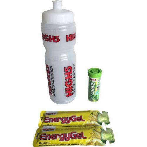High5 Bottle 750ml with Energy Gels and Electrolyte Lemon Żywność dla sportowców MHD 07.11.18 przezroczysty/kolorowy 2018 Żele i smoothie