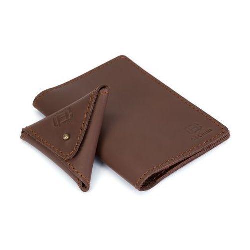 Skórzany cienki portfel + bilonówka marki Cechini