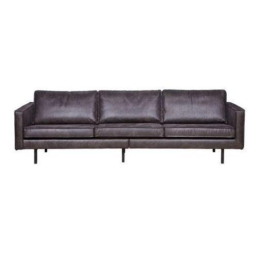 Sofa skórzana duża rodeo - różne kolory czarny marki Be pure