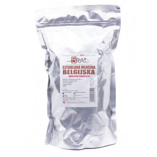 Czekolada mleczna belgijska 1kg marki Brat.pl