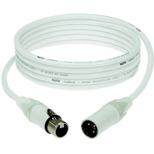 Klotz przewód mikrofonowy biały 3m