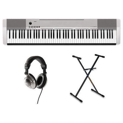 CASIO CDP-130 SR pianino cyfrowe ze statywem i słuchawkami