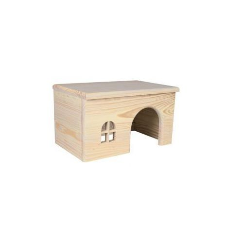 Drewniany domek dla gryzoni wysoka jakość Rozmiar:15 × 12 × 15 cm - produkt z kategorii- domki i klatki dla gryzoni