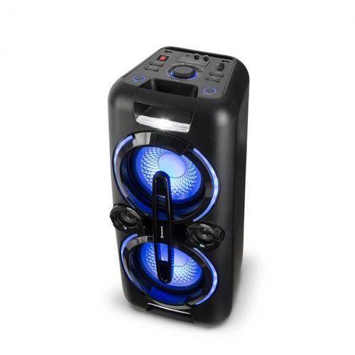 Auna bazzter zestaw audio na imprezy 2 x 50 w rms akumulator bt usb mp3 aux ukf led mikrofon
