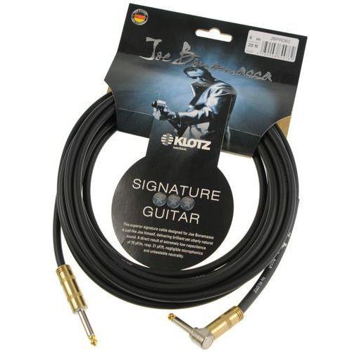 Klotz jbpr060 joe bonamassa kabel gitarowy 6m, jack-jack kątowy, pozłacane wtyki