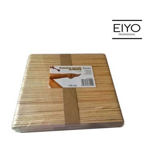 Szpatułki drewniane do depilacji B&M 140 mm x 10 mm - 100 szt