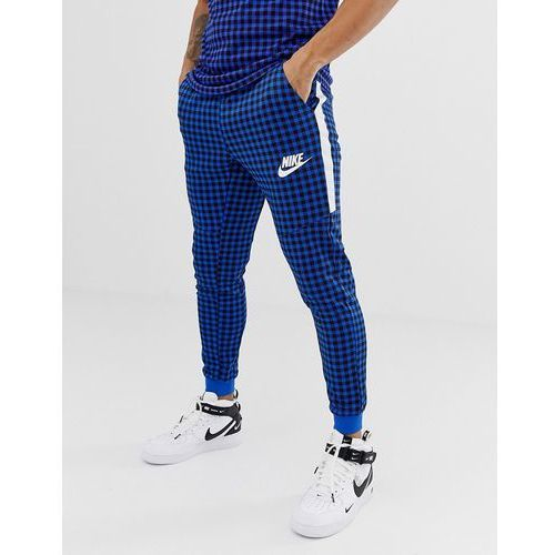 gingham check joggers in blue bq0676-480 - blue marki Nike