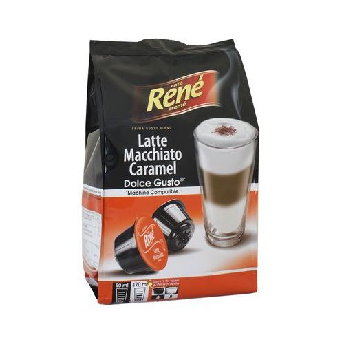 Kawa palona mielona latte macchiato caramel dolce gusto 156 g (16 kapsułek) marki Rene