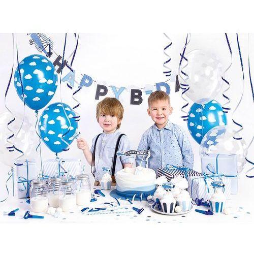 Party deco Party box - imprezowe pudełko - zestaw dekoracji na urodziny samolocik