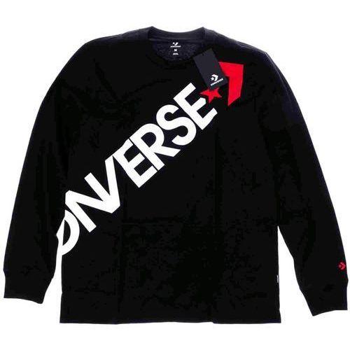 koszulka CONVERSE - Crossbody Lnslv Tee Black (BLACK) rozmiar: L, kolor czarny